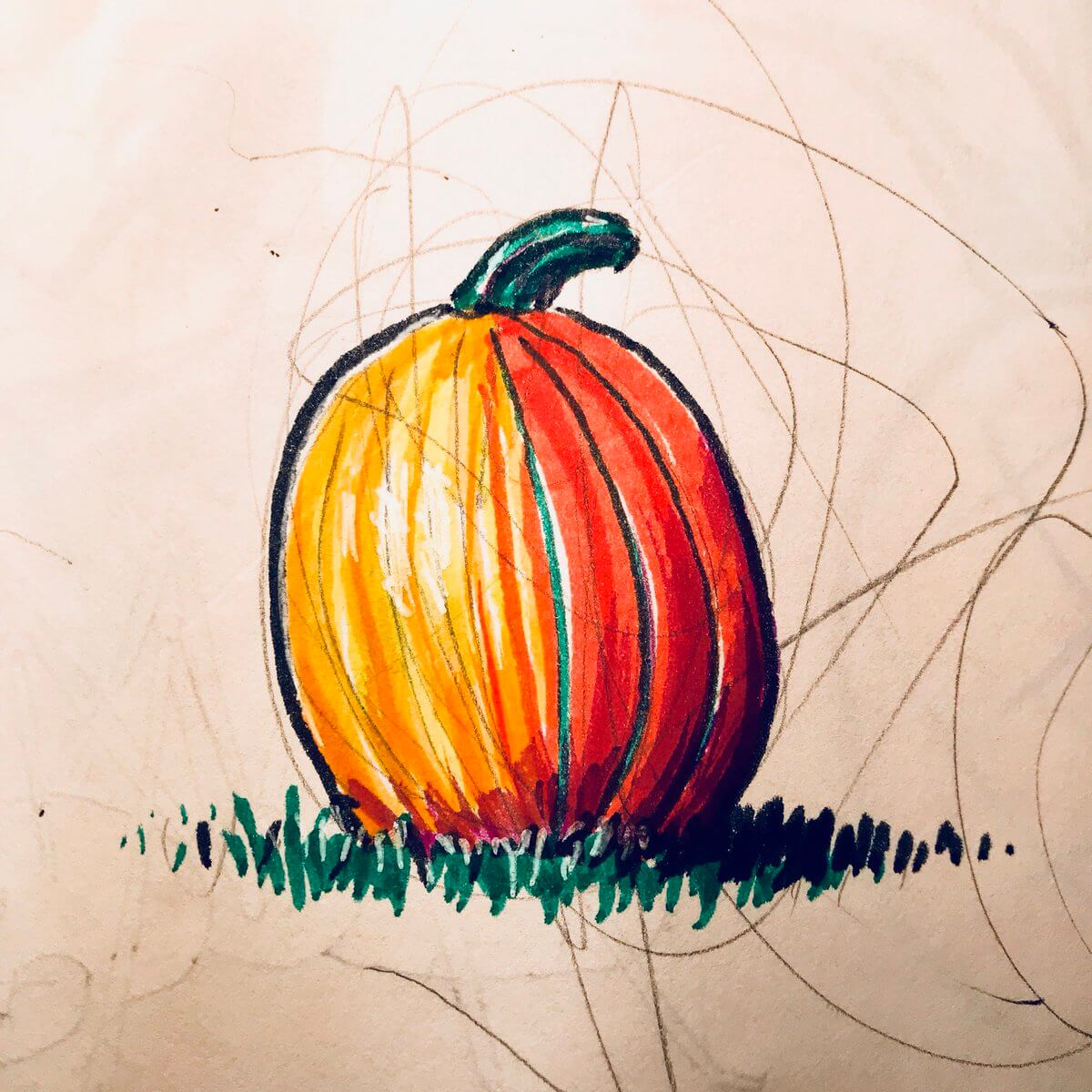 A pumpkin illustration